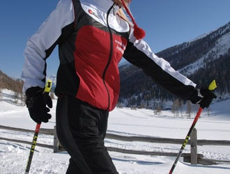 Nordic skiing in the Dolomites